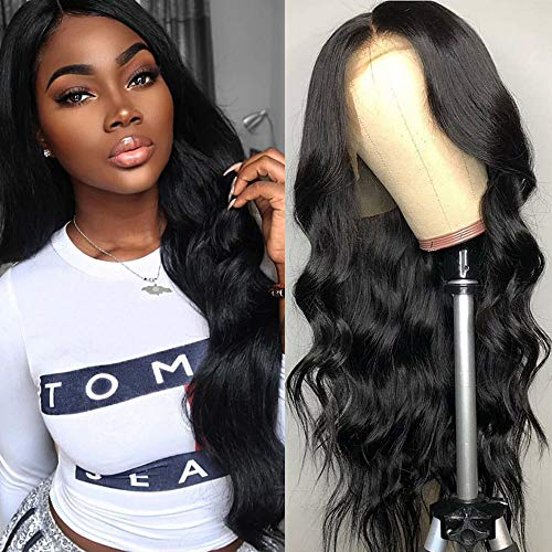 360 Body Wave Lace Frontal Wigs Human Hair Brazilian Black Women 150% Density Pre Plucked With Baby Hair 100% Unprocessed Virgin Human Hair (20 inch)