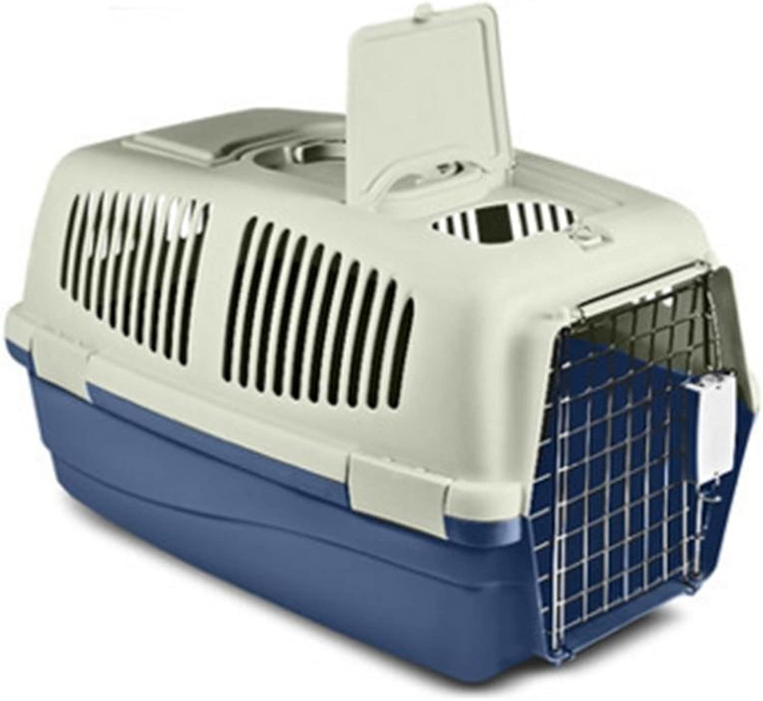 OOFWY Pet Box Cat And Dog Aviation Box Portable Travel Box Have Sunroof Pet Nest ABS Resin Material, 1M