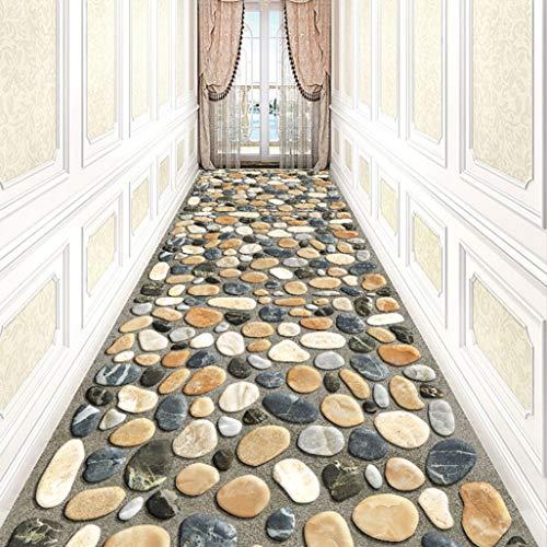Xuulan Tappeto 3D corridoio, Classico Motivo Floreale, Passatoia Corridoio Moderna su Misura, Arcobaleno Multicolore, Tappeti Antiscivolo, Assorbente Eccellente, Perfetto for Hallway & Scale