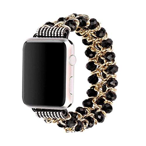 Armband für Mode Sport Perlen Armband Watch Strap Band Uhrband Ersatz für Apple Watch 1/2/3 38mm (A) (9)