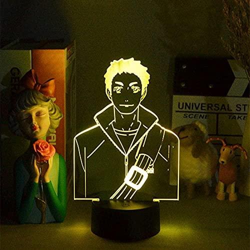 3D ilusión lámpara LED noche luz anime daichi niños s regalo de cumpleaños niños s habitación dormitorio escritorio decoración 16 colores