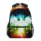 School Backpack Fireworks Phoenix Bookbag for Boys Girls Elementary School Casual Travel Bag Computer Laptop Daypack