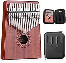 لوحة بيانو بإبهام 17 Keys من Kalimba مدمجة في صندوق حماية عالي الأداء EVA، مطرقة ضبط وتعليمات دراسية.