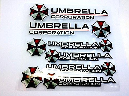 Umbrella Corporation Resident Evil Großes Auto Aufkleber Decal Set Drei