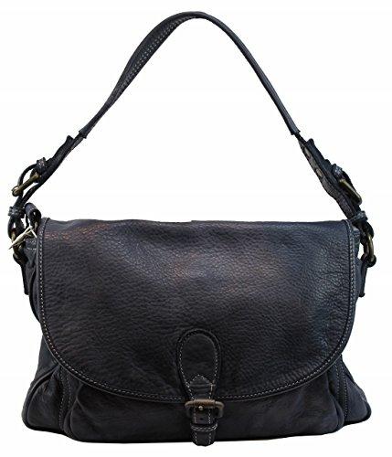 BZNA Bag Vera blau italy Designer Leder Schulter Ledertasche Umhänge Tasche Handtasche Neu Shopper