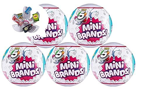 5-Surprise Mini Brands Collectible Capsule Ball by Zuru - 5 Ball Bundle