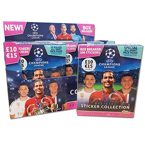 2 X Display Topps Champions League sticker 2019//2020 album 60 Booster 19//20