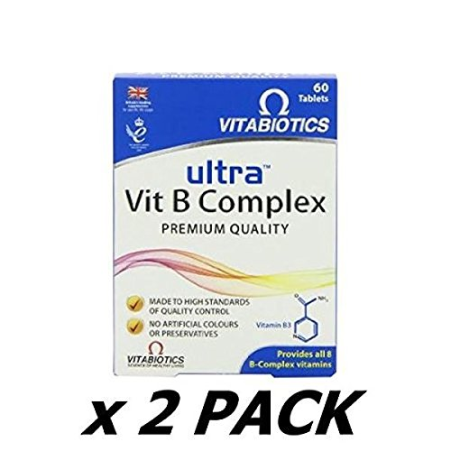 Ultra Vitamin B-Complex Tablets - Pack Of 60 Tablets (Pack of 2)