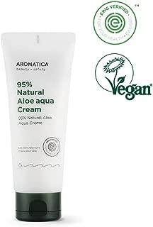 AROMATICA 95% Natural Aloe Aqua Cream 5.29oz / 150g, Organic, Moisturizing, Vegan, EWG VERIFIED