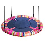 40' Camo Disc Nest Rope Hanging Tree Swing Camping Chair Heavy Duty Easy to Set Up for Kids Children Adult Outdoor Indoor Backyard Garden