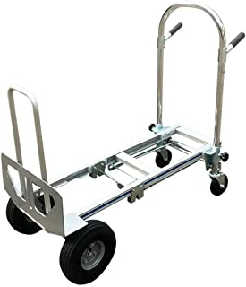 Hand Truck, Foldable 3 in 1 Convertible Hand Truck 2 Wheel Dolly and 4 Wheel Cart - US Shipping