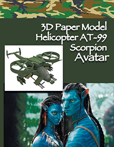3D Paper Model Helicopter AT-99 Scorpion Avatar: Paper Craft For Kids Build Your Paper Toy Easy Instruction