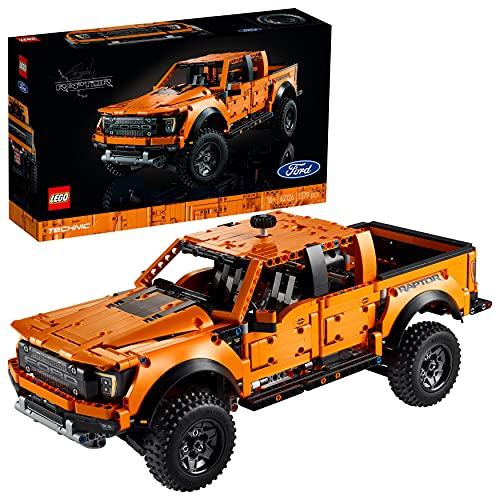 LEGO 42126 Technic Ford F-150 Raptor Pick-Up-Truck, Modellauto für Erwachsene, Exklusives Sammlermodell, Geschenkidee