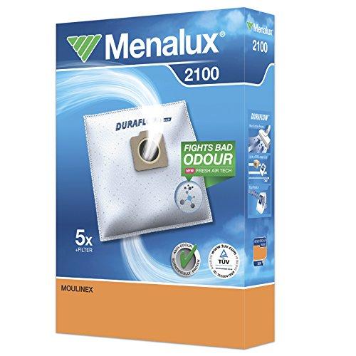 Menalux 2100 Duraflow - Bolsas para aspiradoras Moulinex, Co