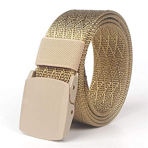 SSM Cinturón para Hombre, Hombre Nylon Cinturón de Secado Rápido Viajes de Escalada Al Aire Libre Hebilla Suave Jeans Ajustables Cinturones para Masculino Longitud de Cintura 120 cm