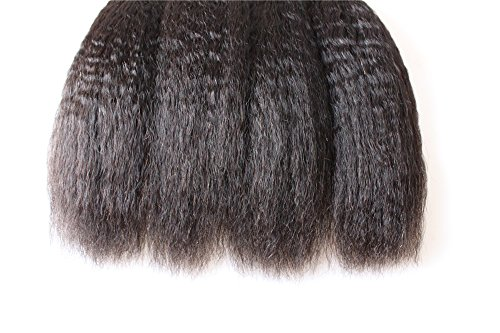 HairPR Hair 100% Cambodian Human Virgin Hair extension 3 Bundles 10'-28' Kinky Straight Natural Color Can be dyed 24'26'26'