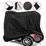 Sqodok Mobility Scooter Cover Waterproof, Power Scooter Cover Wheelchair Cover for Travel, 300D Oxford Fabric Rain Protector from Dust Dirt Snow Rain Sun Rays - 67 x 24 x 46 inch (L x W x H)