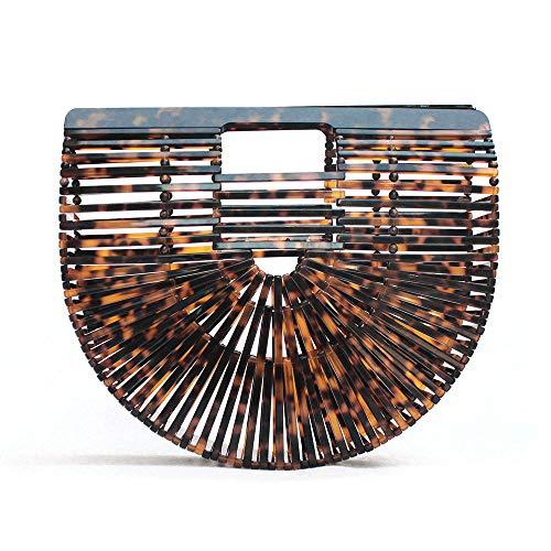 Vakaer Womens Acrylic Clutch Handbag Large Tote Bag Beach Bag