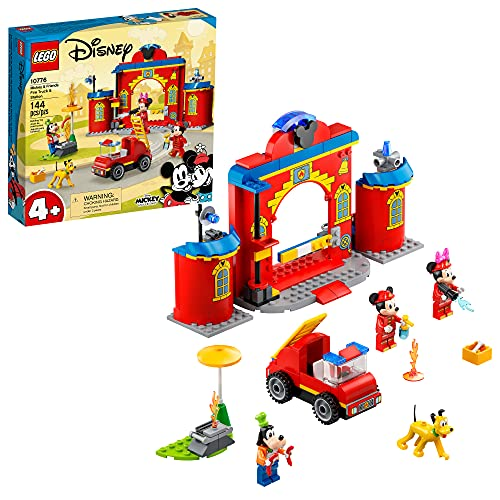 LEGO Disney Mickey and Friends – Mickey & Friends Fire Truck & Station 10776 Building Kit; Fun Firehouse Play Set; New 2021 (144 Pieces)