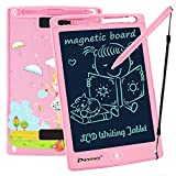 PROGRACE LCD Writing Tablet for Kids Learning Writing Board Magnetic Erase LCD Writing Pad Smart Doodle Drawing Board for Home School Office Portable Electronic Digital Handwriting Pad 8.5'