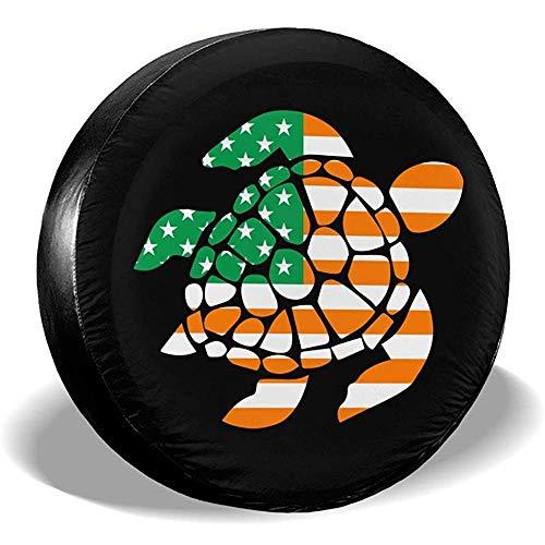 Kncsru Coperture Pneumatici per Fan dello Sport Bandiera Irlandese degli Stati Uniti Sea Turtle Copertura Ruota Pneumatici di scorta Universale
