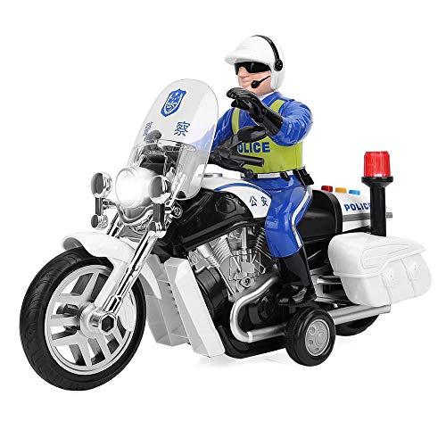 logozoee Hochgeschwindigkeits-Verkehrsfigur Motorradspielzeug, Musiklicht-Lernmotorrad, Auto für Kinder Kinder
