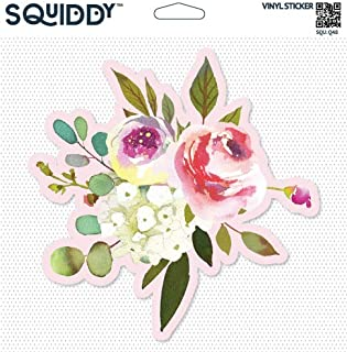 Squiddy Floral Cute Roses Arrangement - Vinyl Sticker Decal for Phone, Laptop, Water Bottle (2