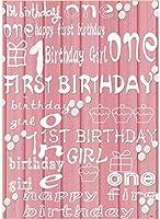 新しい1歳の誕生日の女の子の背景の装飾5x7ftピンクの木製の床の写真の背景のケーキスマッシュガールパーティーの装飾のための1歳の背景