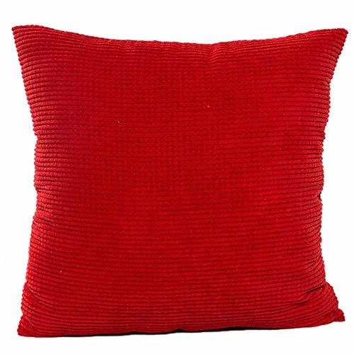 FeiliandaJJ , Kissenbezug 45x45cm,Kissenhülle Kopfkissenbezug Solid Color Velvet core Sofa Bed Home deko Pillows Cover Super weich Taille Wurf Kissenbezüge (rot)
