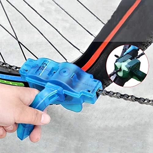 ICYCHEER Limpiador de Cadena de Bicicleta Limpiador de Cadena Cepillo de Limpieza Herramienta para Ciclismo Bicicleta de Carretera Bicicleta de Montaña MTB Facil Mantenimiento de Cadena de Bici