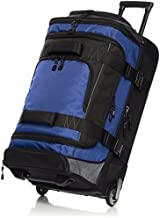 AmazonBasics Ripstop Rolling Travel Luggage Duffle Bag With Wheels - 32 Inch, Blue
