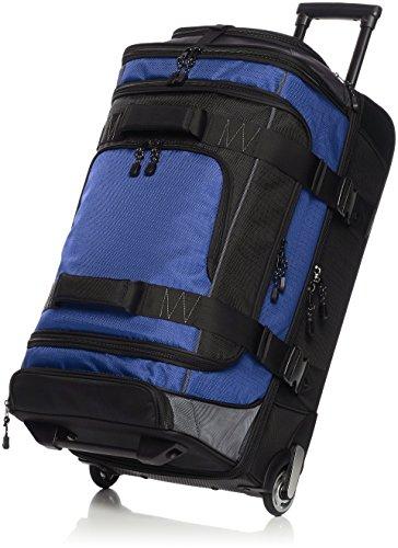 Amazon Basics - Mochila con ruedas de ripstop, 76 cm, 86.9 litros - Azul