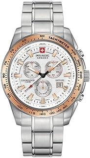 Swiss Military Hanowa - Reloj Analógico para Hombre de Cuarzo con Correa en Acero Inoxidable 06-5225.04.001.09
