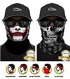 ECOMBOS Multifunktionstuch Gesichtsmaske Bedrucktes nahtlos veränderbaren Schädel Lätzchen Sport Reiten
