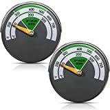 Magnetic Stove Thermometer Wood Burning Stoves Top Temperature Meter Stove Flue Pipe Thermometer Fireplace Accessories for Protecting Stove Fan (2)