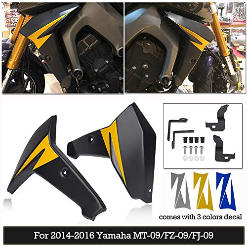 FZ09 MT09 FJ09 Zubehör Motorrad ABS Kühler Seitenteil Verkleidung Abdeckbleche Protector für 2014 2015 2016 Yamaha FZ MT FJ 09 FZ-09 MT-09 FJ-09