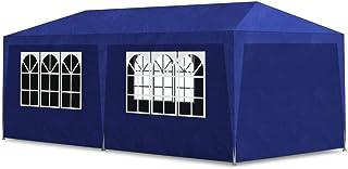 vidaXL Party Tent 3x6m with 6 Walls Blue Patio Garden Gazebo Marquee Pavilion