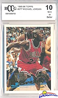 4bc9887e3aa 1995/96 Topps #277 Michael Jordan Graded BECKETT 10 MINT Chicago Bulls HOF!