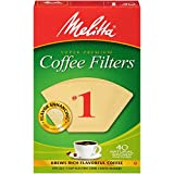 Melitta 620122#1 40 Count Natural Brown Cone Coffee Filters, Brown