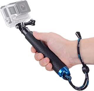 Vicdozia 19'' Waterproof Hand Grip Adjustable Extension Selfie Stick Handheld Monopod Compatible with GoPro Hero(2018) Her...