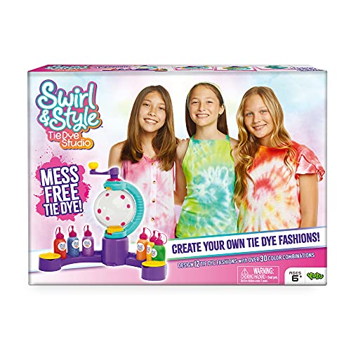Moose Toys Swirl & Style Tie Die Studio for Mess-Free tie-Dying Made Easy!
