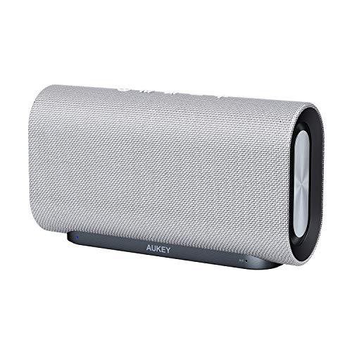 AUKEY Eclipse Bluetooth Lautsprecher 20W Verstärkender Bass mit 12 Stunden Spielzeit und Oberfläche aus Netzgewebe für iPhone, iPad, Echo Dot, Samsung, Android Phones usw