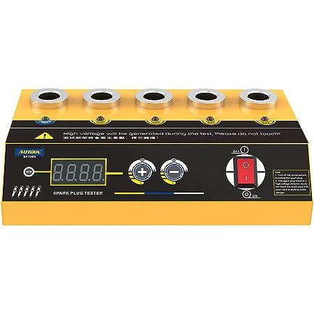 Car Spark Plug Tester Five-Hole Standard Comparison Test Adjustable Working Frequency Spark Tester for 110V/220V Inline Spark Tester with LCD Display,Accessories Not Included Spark Plug