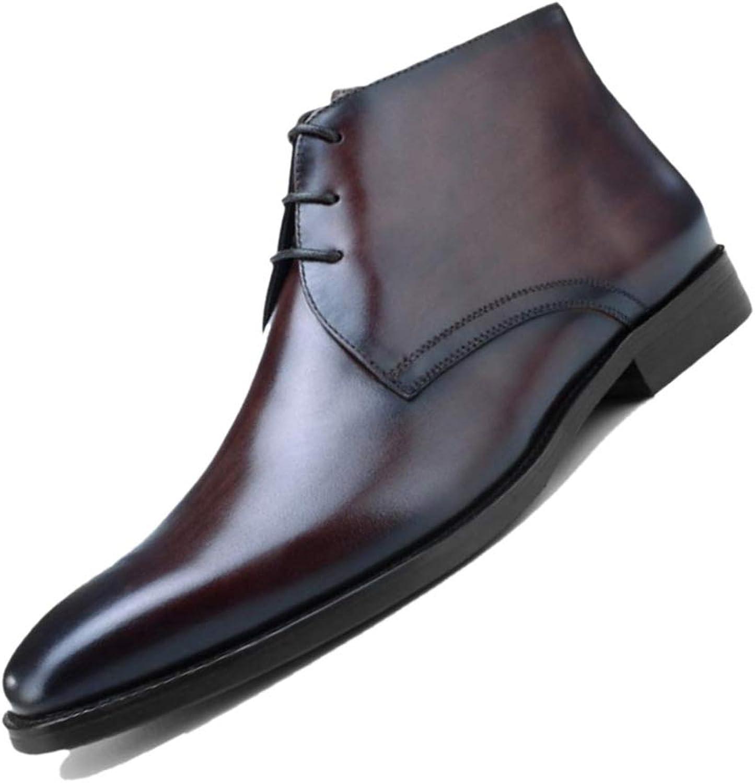 Män's Four Seasons Boots Boots Boots British Derby High bspringaa svart Pointed Soft Leather Breathable Martin Boots Chelsea  köpa billiga nya