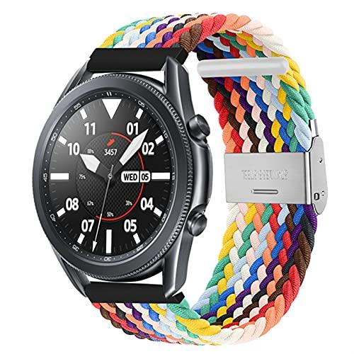 WWXFCA Banda de Bucle Solitario Trenzado para Galaxy Watch 3 45mm 41mm Banda de Nylon Ajustable para Galaxy Watch 46mm 42mm Activo 2 44mm 40 mm Activo 2