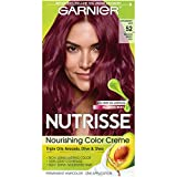 Garnier Hair Color Nutrisse Nourishing Hair Color Creme, Strawberry Jam 52, Medium Berry Red, 1 Count