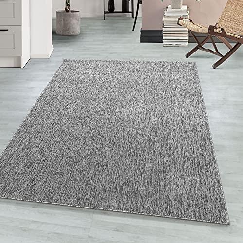 Loop Carpet Warp Area rug Tappeto a Pelo Corto Flatweave Melange Grigio Chiaro, Dimensione:80 cm x 150 cm