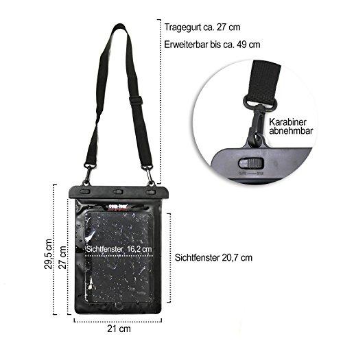com-four® 2X wasserdichte Schutzhülle - staubdichte Hülle für Tablet und E-Book-Reader - Schutztasche in schwarz - 11,6