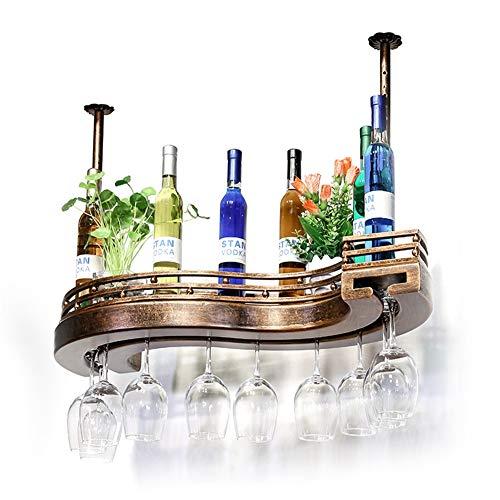 Wandmontage Weinflaschenhalter Mit Glashalter - Hängende Weinflasche Champagner Regal Home Und Küche Dekor Zubehör,100cm
