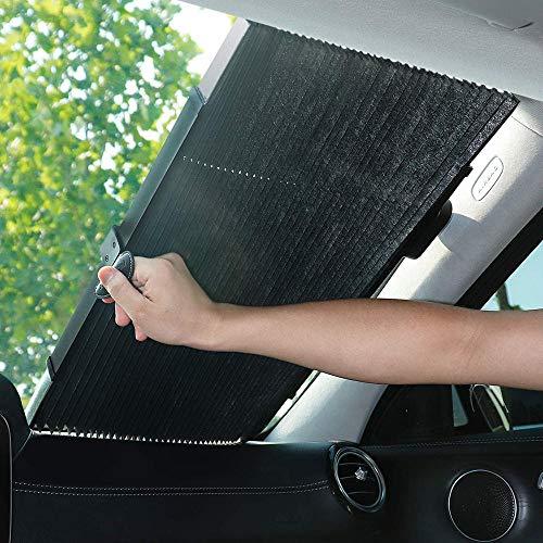 LANGYINH Auto Windschutzscheibe Sonnenschutz,Einziehbares Auto Frontfenster Sonnenschutz,Hält Ihr Fahrzeug Kühl, 27,5 Zoll